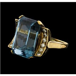 26.56 ctw Spinel and Diamond Ring - 14KT Yellow Gold