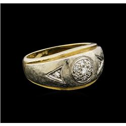 14KT Yellow Gold 0.18 ctw Diamond Ring