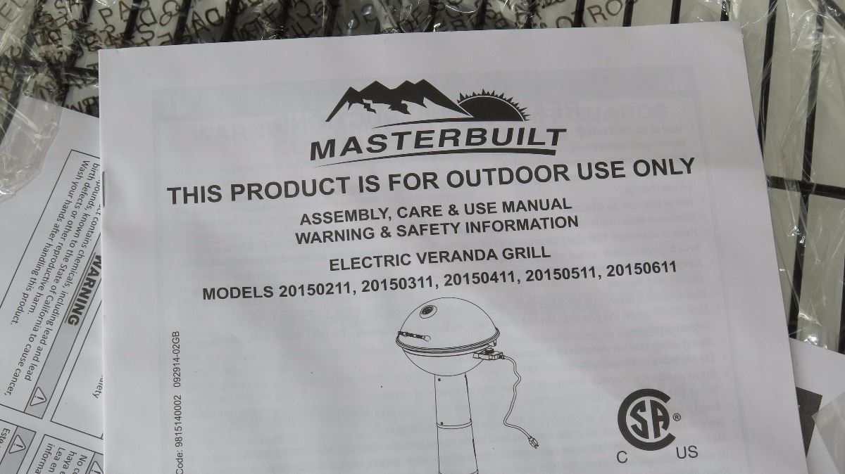 Image 2 New Masterbuilt Electric Patio Grill Still In Box