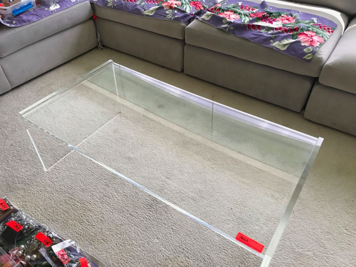 Image 1 Modern Clear Lucite Coffee Table