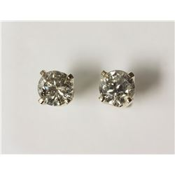 #11-14KT WHITE GOLD DIAMOND EARRINGS