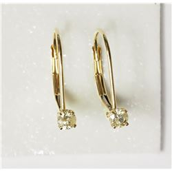 #14-14KT YELLOW GOLD DIAMOND EARRINGS