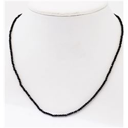 #20-STERLING SILVER BLACK SPINEL NECKLACE
