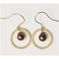 #23-10KT YELLOW GOLD FW PEARL EARRINGS