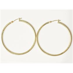 #24-14KT YELLOW GOLD HOOP EARRINGS