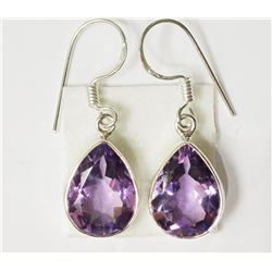 #31-STERLING SILVER AMETHYST EARRINGS