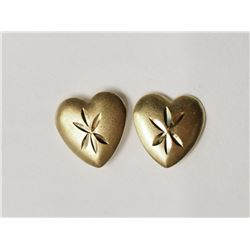 #43-14KT YELLOW GOLD HEART-SHAPED