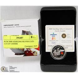 RCM 2008 STERLING SILVER COIN LUCKY LOONIE