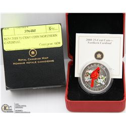 RCM 2008 25 CENT COIN NORTHERN CARDINAL