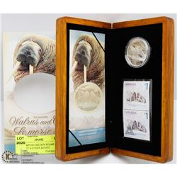 RCM LIMITED EDITION STAMP & COIN SET WALRUS & CALF