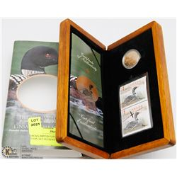 RCM LIMITED EDITION STAMP & COIN SET ELUSIVE LOON