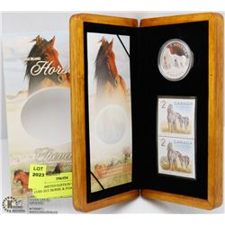 RCM LIMITED EDITION STAMP & COIN SET HORSE & FOAL