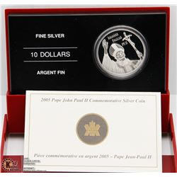 RCM 2005 POPE JOHN PAUL II COMMEMMORATIVE SILVER