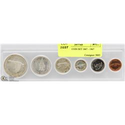 CANADIAN COIN SET 1867 - 1967