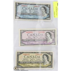 1954 CANADIAN BILL COLLECTION