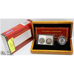 RCM 100TH ANNIVERSARY COIN AND STAMP SET IN