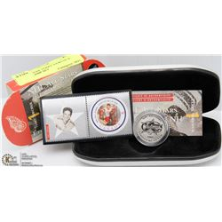 NHL ALL STAR TERRY SAWCHUK COIN & STAMP SET