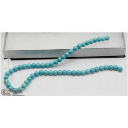 # 39 BLUE TURQUOISE LOOSE BEAD NECKLACE 15'