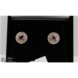#140 GENUINE PURPLE AMETHYST EARRINGS