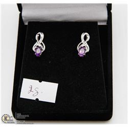 #138 GENUINE PURPLE AMETHYST EARRINGS