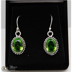 #121 GREEN PERIDOT GEMSTONE EARRINGS