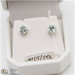 BLUE TOPAZ EARRING STERLING SILVER 925