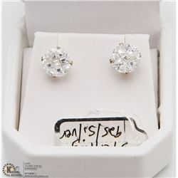 CUBIC STONE EARRINGS STERLING SILVER 925
