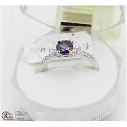 #88 PURPLE AMETHYST .925 STERLING SILVER RING