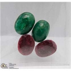 #28  NATURAL GREEN EMERALD & RUBY  STONE