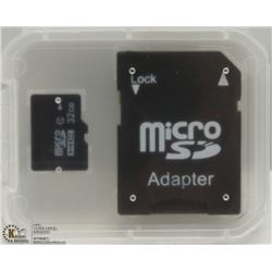 NEW 32GB MICRO SD CARD WITH ADAPTOR