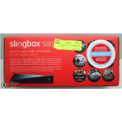 SLINGBOX 500 YOUR TV, YOUR WAY, ANYWHERE