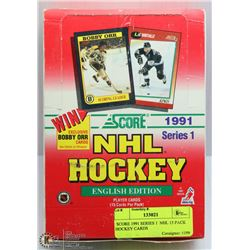 SCORE 1991 SERIES 1  NHL 15 PACK HOCKEY CARDS