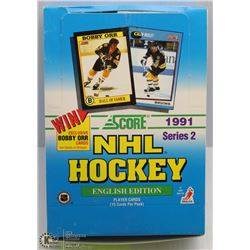 1991 SCORE HOCKEY BOX SERIES 2