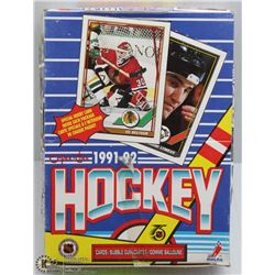 1991 - 92  O-PEE-CHEE HOCKEY BOX 36 PACKS/BOX