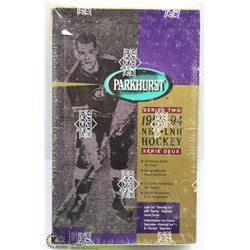 1993 - 94 PARKHURST HOCKEY FACTORY SEALED BOX