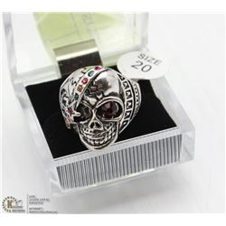 MEN'S HEAVY STAINLESS STEEL SKULL RING SZ10