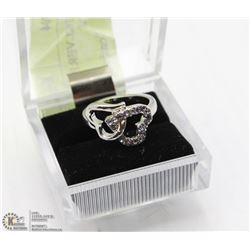 SWEET LOVE HEART SILVER PLATED WEDDING RING STYLE
