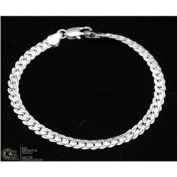 SILVER PLATED FLAT SNAKE CHAIN BRACELET