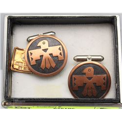 BELL CUFFLINKS SOLID COPPER