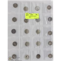 SHEET W/20 VINTAGE NICKELS DATING FROM