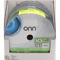 60 CD-RW MEDIA DISKS