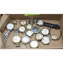 ESTATE FLAT OF VINTAGE WRIST WATCHES FOR REPAIR