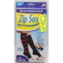 ZIP-UP COMPRESSION SOCKS SIZE S/M AS SEEN ON TV