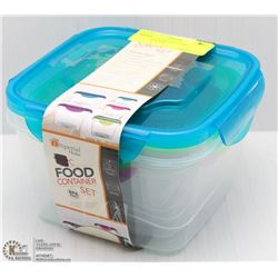 IMPERIAL HOME 9PC FOOD CONTAINER SET