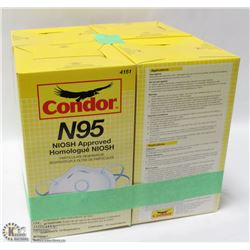 LOT OF 4 12PK CONDOR N95 NOISH APPROVED