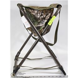FOLDABLE FISHING/HUNTING STOOL WITH SEAT STORAGE