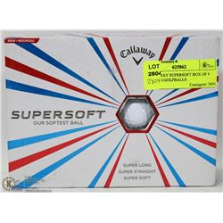 CALLAWAY SUPERSOFT BOX OF 4 SLEEVES GOLFBALLS