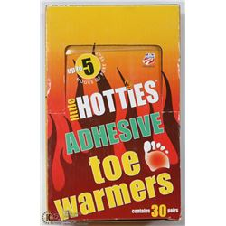 BOX OF 30 LITTLE HOTTIES TOE WARMERS