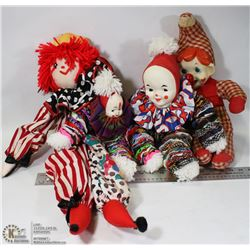 FLAT OF CLOWNS 2 HANDMADE W/1 RARE
