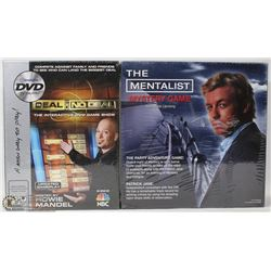 SET OF 2 FACTORY SEALED BOARD GAMES THE MENTALIST